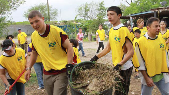 mormon teens helping hands