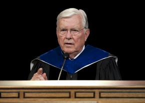 Elder M. Russell Ballard speaks to graduates at Brigham Young University.